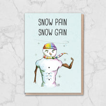 Load image into Gallery viewer, Pride Snow Pain Snow Gain Snowman Card Greetings Card ALLPOP