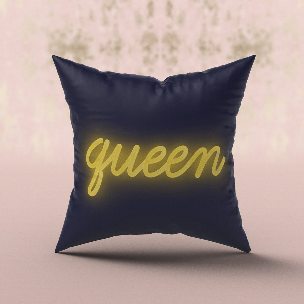 'Queen' Neon Cushion Cushion ALLPOP Neon Yellow
