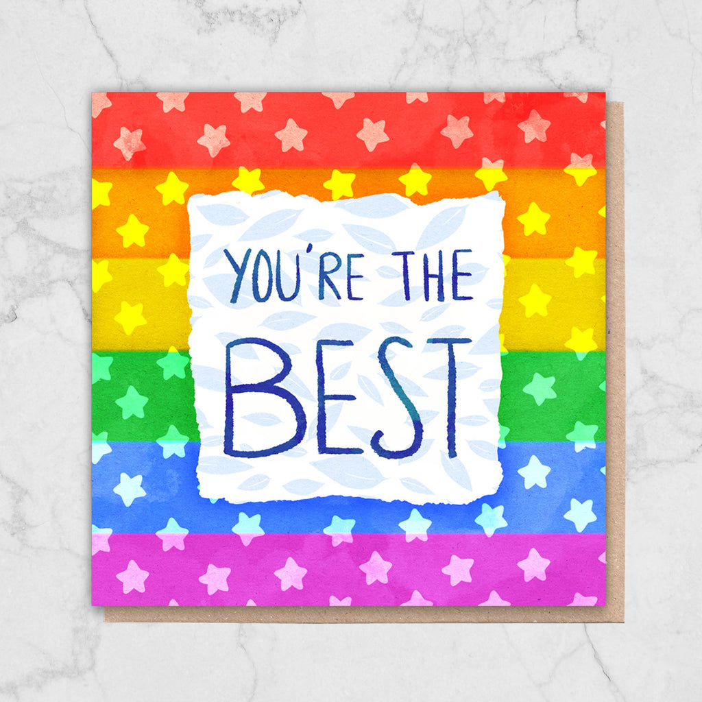Queer 'You're The Best' Card Greetings Card ALLPOP