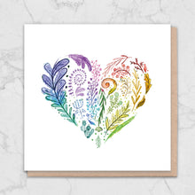 Load image into Gallery viewer, Rainbow Nature Heart Card Greetings Card ALLPOP