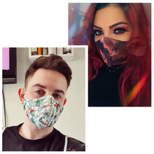 Load image into Gallery viewer, Rainbow Pride Antimicrobial Face Mask SilverPlus Mask Face Covering