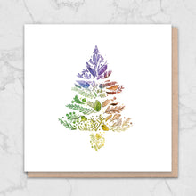 Load image into Gallery viewer, Rainbow Tree Nature Christmas Card Greetings Card ALLPOP