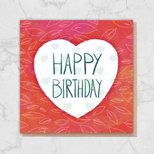 Load image into Gallery viewer, Red Heart 'Happy Birthday' Card Greetings Card ALLPOP