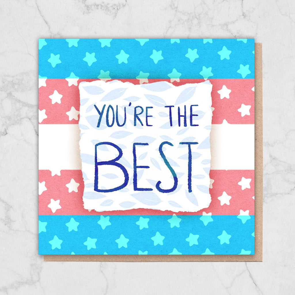 Trans 'You're The Best' Card Greetings Card ALLPOP