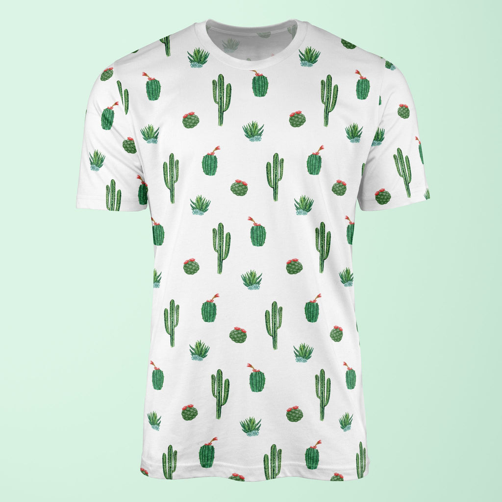 Watercolour Cactus Print T-Shirt T-Shirt Tee