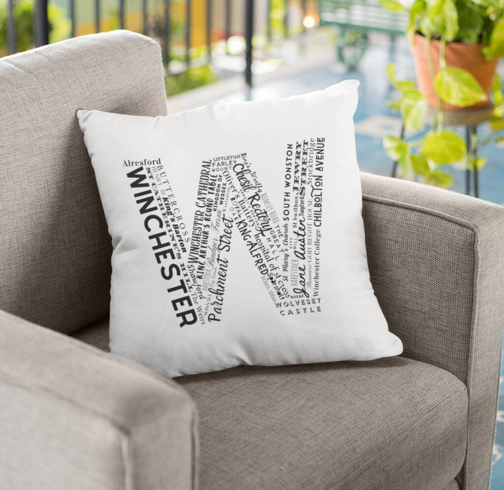 Winchester Location Letter Cushion Cushion MBT