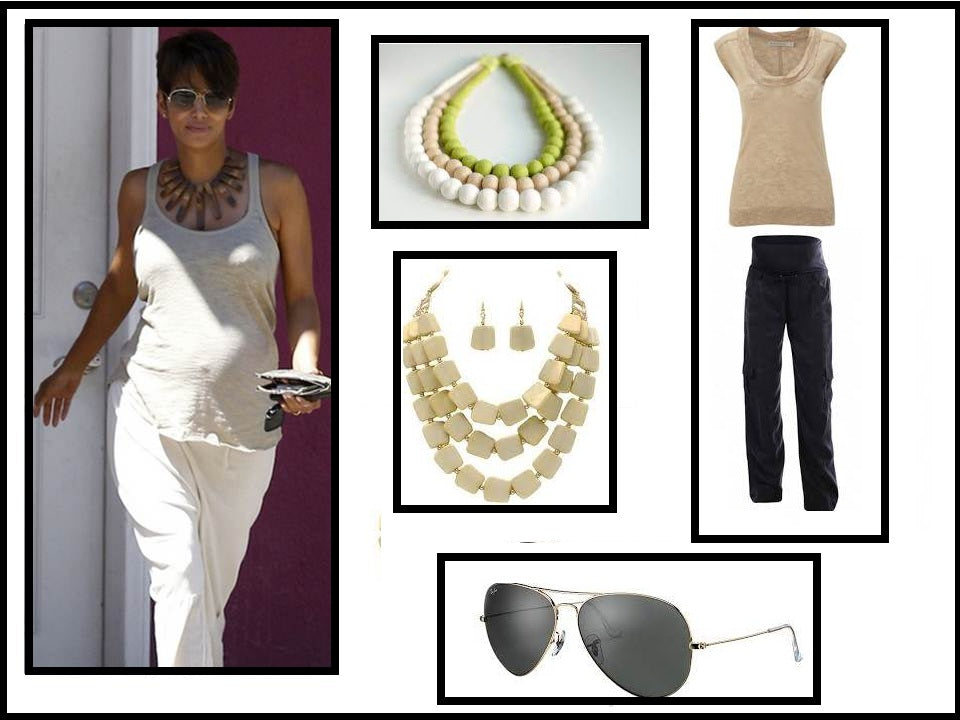 Get the Halle Berry look with maternity slouch cargos