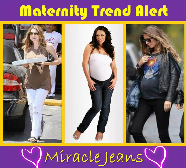 maternity trend alert miracle jeans