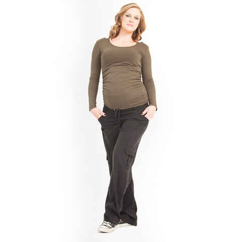 Maternity Or Pregnancy Cargo Pants, EGG Slouch Style - mumsbuddy.com
