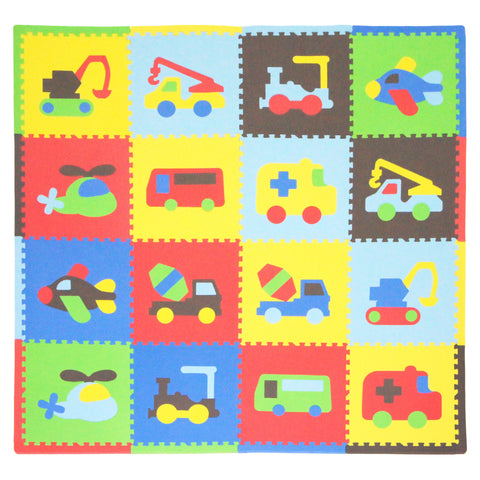 Tadpoles Colourful Toddler Playmat, Transport Design - mumsbuddy.com