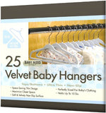 Velvet Baby Hangers, Ultra Thin No-Slip, Set of 25, Blue - mumsbuddy.com