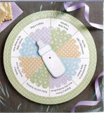 Spin the Bottle - Baby Shower Game, pastel multi-colour - mumsbuddy.com