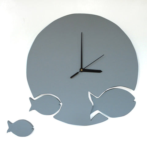 Fish Wall Clock For Kids Room Decor - mumsbuddy.com