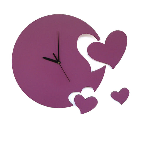 Heart Wall Clock For Kids Room Decor - mumsbuddy.com