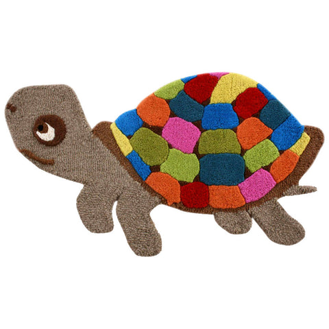 Gorgeous Multi-colour Turtle Rug For Kids Room - mumsbuddy.com