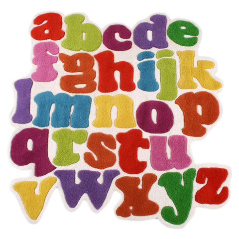 Colourful Alphabet Rug For Kids Room - mumsbuddy.com