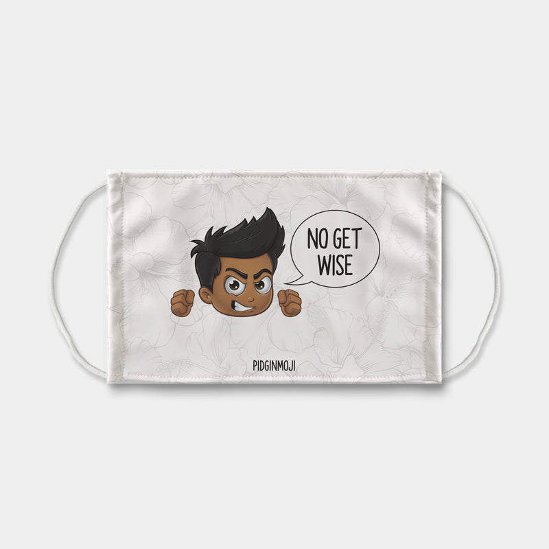"""NO GET WISE"" Men's Original PIDGINMOJI Characters Face Mask"