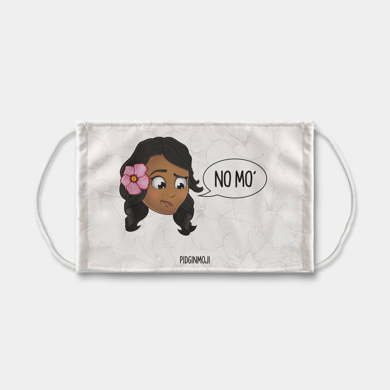 """NO MO'"" Women's Original PIDGINMOJI Characters Face Mask"