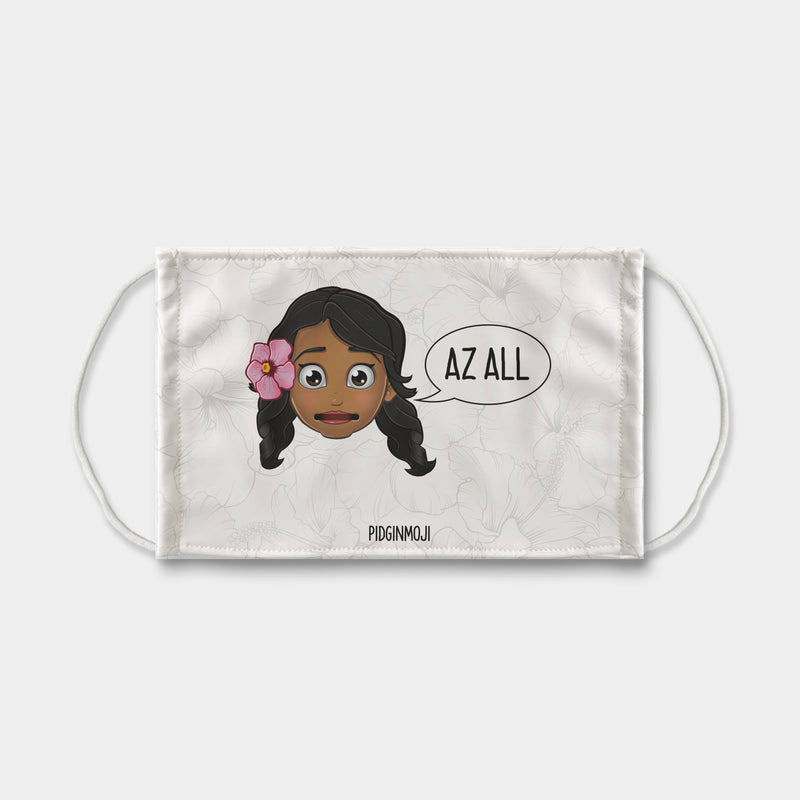 """AZ ALL"" Women's Original PIDGINMOJI Characters Face Mask"