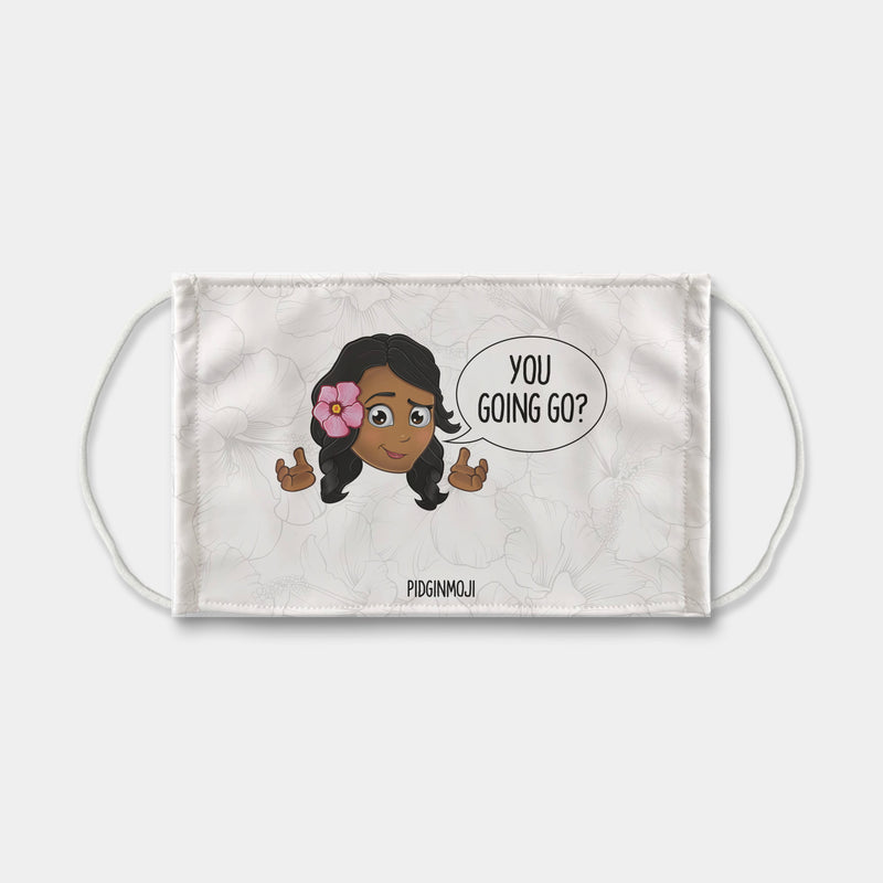 """YOU GOING GO?"" Women's Original PIDGINMOJI Characters Face Mask"