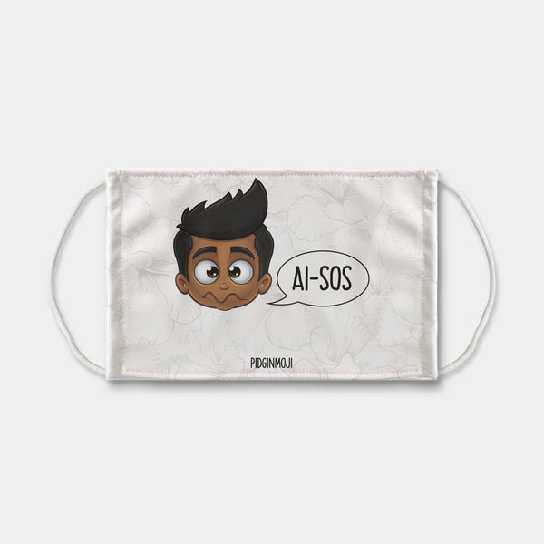 """AI-SOS"" Men's Original PIDGINMOJI Characters Face Mask"
