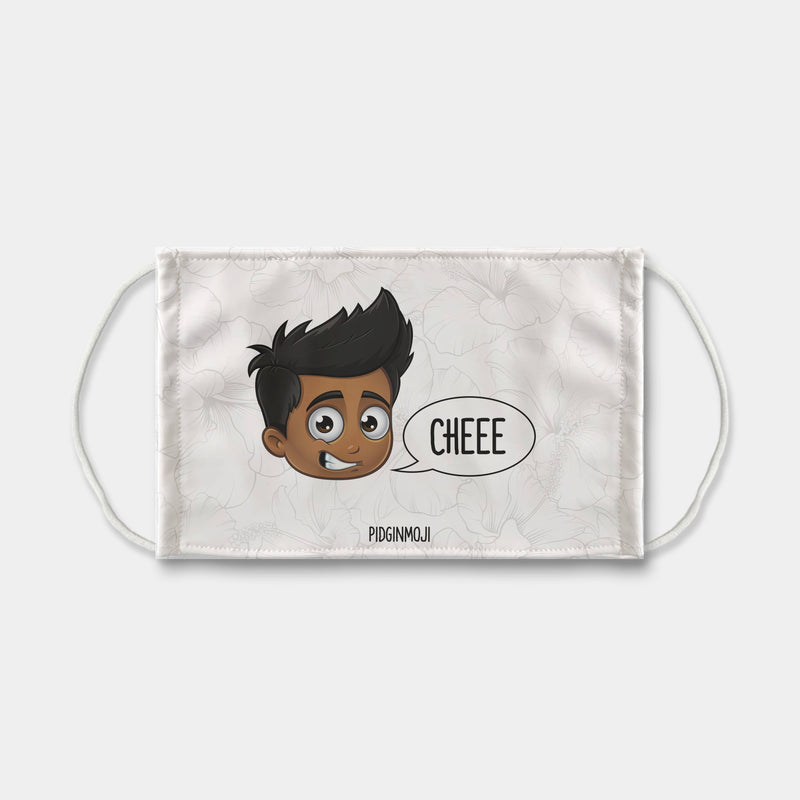 """CHEEE"" Men's Original PIDGINMOJI Characters Face Mask"