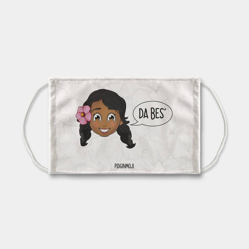 """DA BES'"" Women's Original PIDGINMOJI Characters Mask Sublimation Face Mask"
