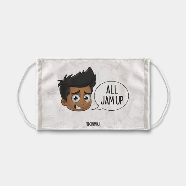 """ALL JAM UP"" Men's Original PIDGINMOJI Characters Face Mask"