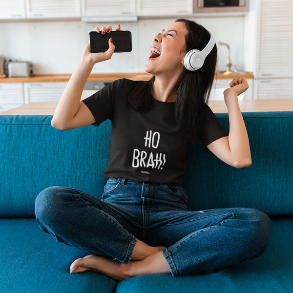 """HO BRAH!"" Women's Pidginmoji Dark Short Sleeve T-shirt"