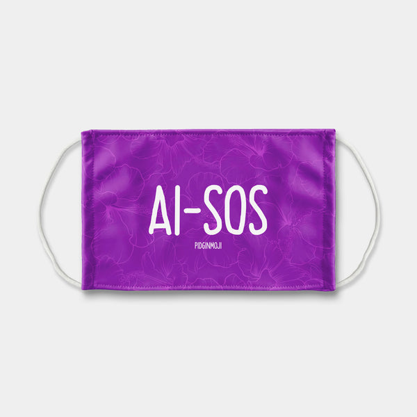 """AI-SOS"" PIDGINMOJI Face Mask (Purple)"