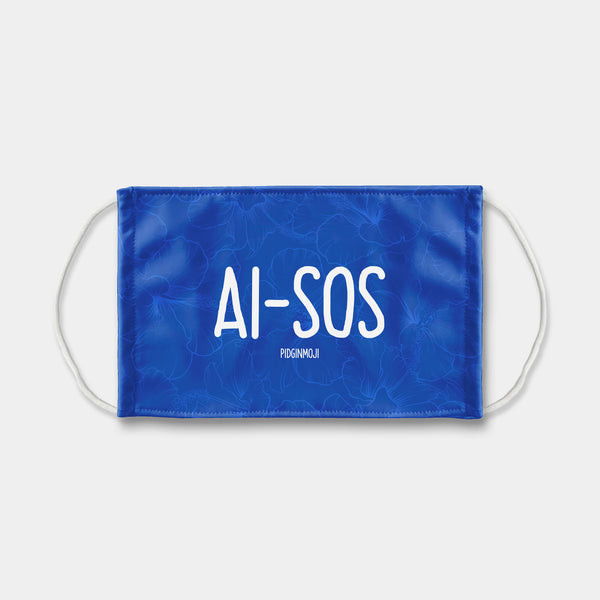 """AI-SOS"" PIDGINMOJI Face Mask (Blue)"