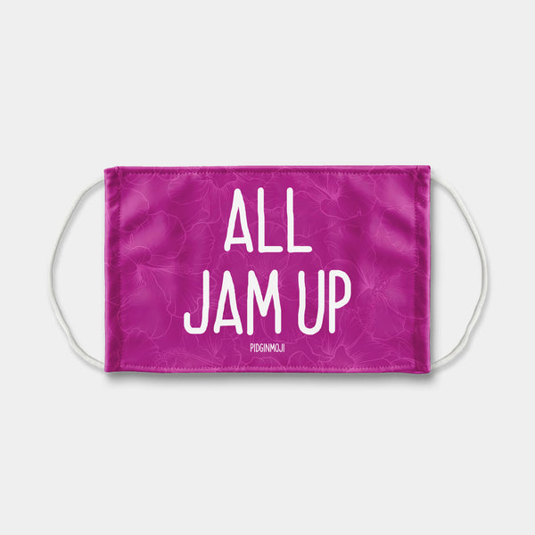 """ALL JAM UP"" PIDGINMOJI Face Mask (Pink)"