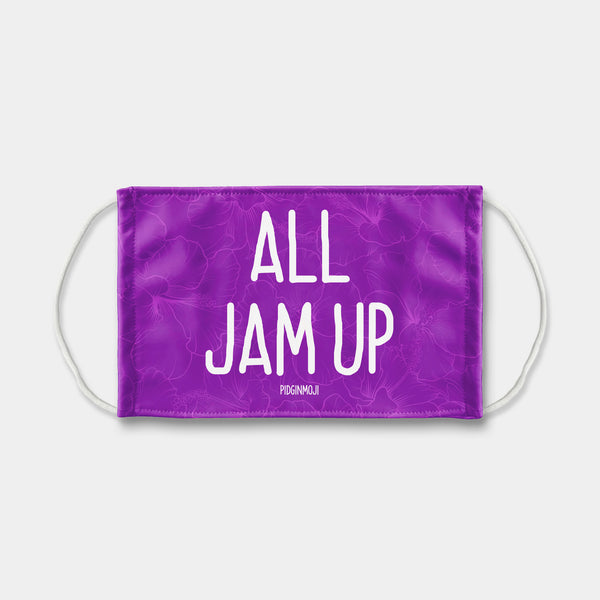 """ALL JAM UP"" PIDGINMOJI Face Mask (Purple)"