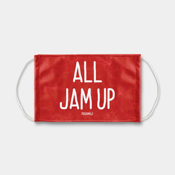 """ALL JAM UP"" PIDGINMOJI Face Mask (Red)"