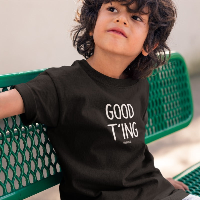 """GOOD T'ING"" Youth Pidginmoji Dark Short Sleeve T-shirt"