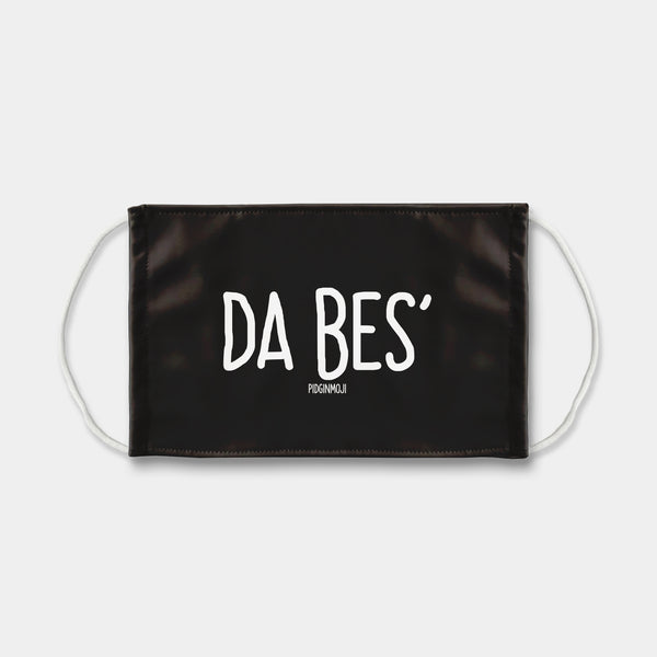 """DA BES'"" PIDGINMOJI Face Mask (Black)"