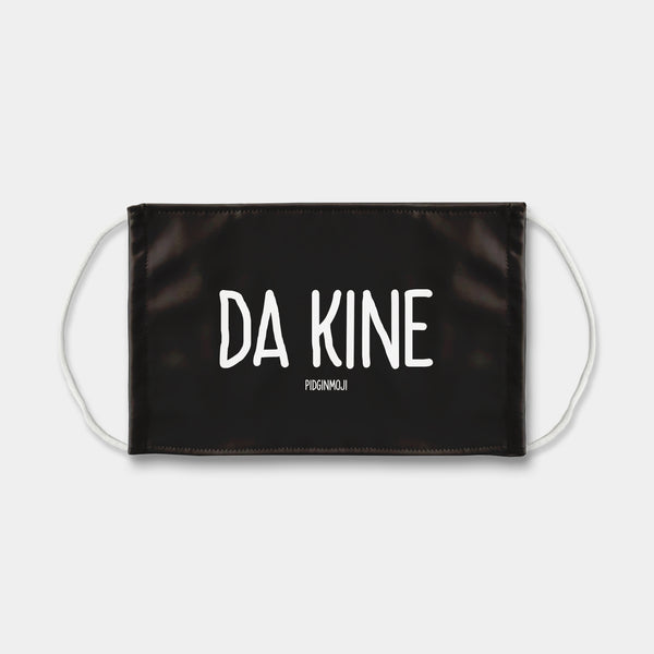 """DA KINE"" PIDGINMOJI Face Mask (Black)"