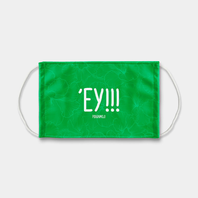 """'EY!!!"" PIDGINMOJI Face Mask (Green)"