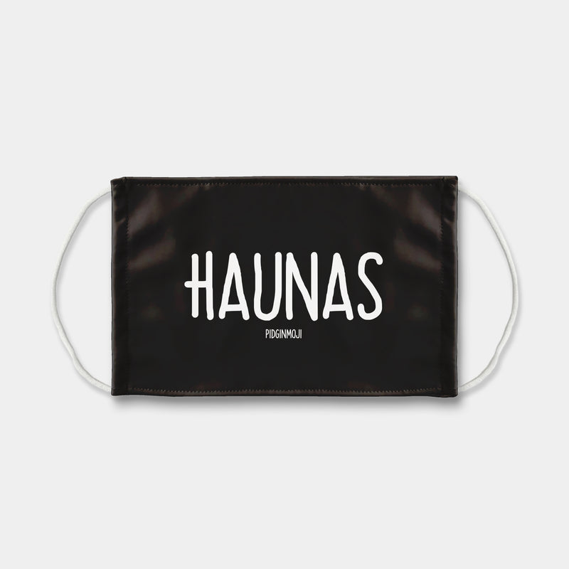 """HAUNAS"" PIDGINMOJI Face Mask (Black)"