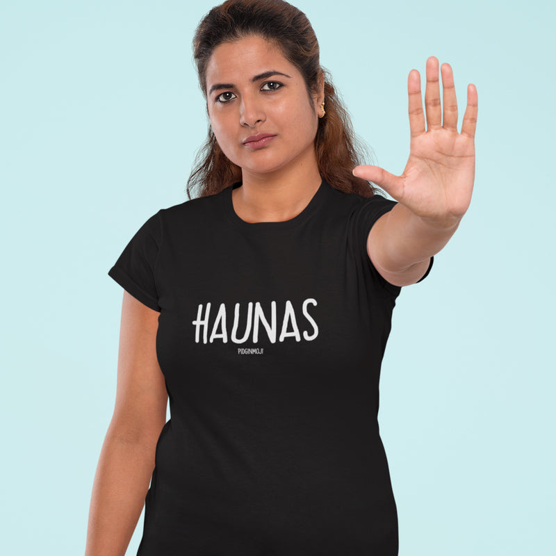 """HAUNAS"" Women's Pidginmoji Dark Short Sleeve T-shirt"