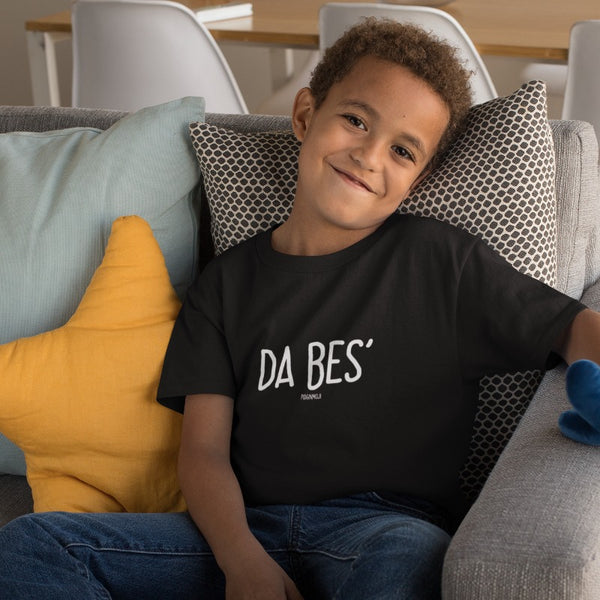"""DA BES'"" Youth Pidginmoji Dark Short Sleeve T-shirt"