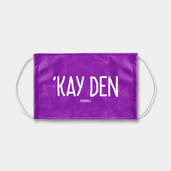 """'KAY DEN"" PIDGINMOJI Face Mask (Purple)"