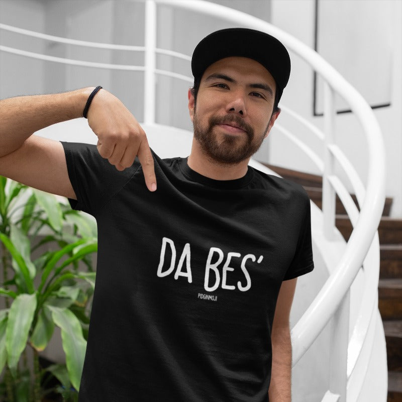 """DA BES'"" Men's Pidginmoji Dark Short Sleeve T-shirt"