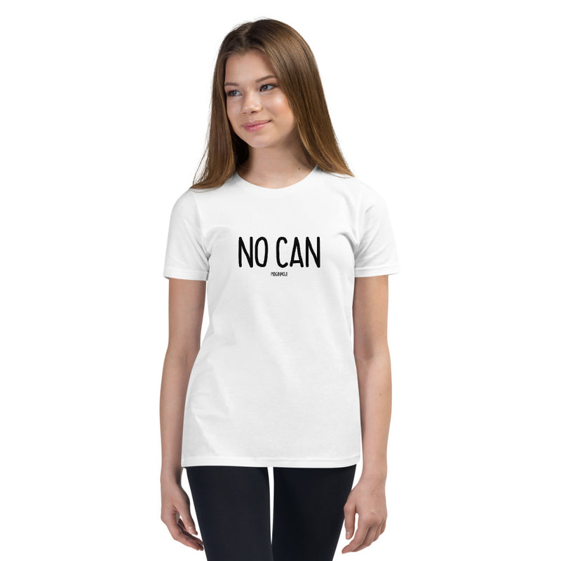 """NO CAN"" Youth Pidginmoji Light Short Sleeve T-shirt"