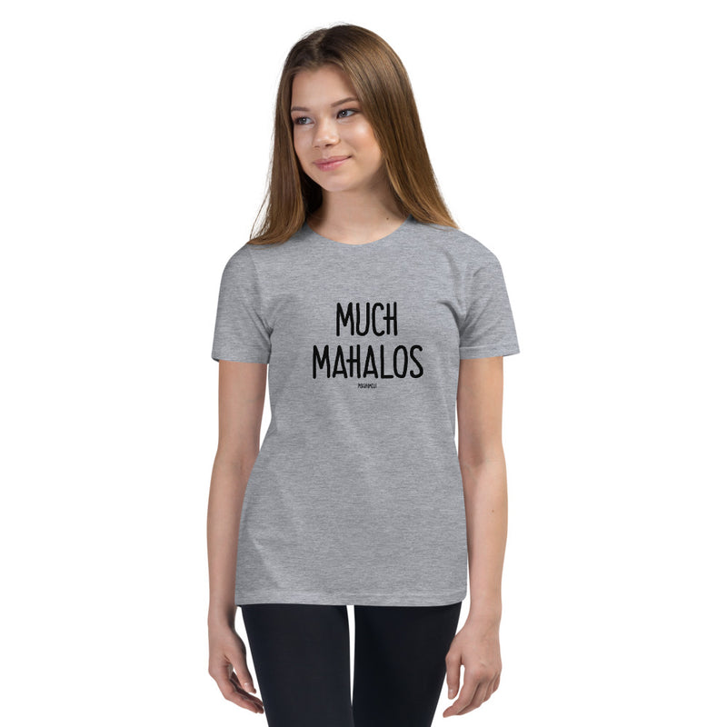 """MUCH MAHALOS"" Youth Pidginmoji Light Short Sleeve T-shirt"