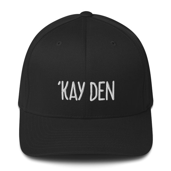 """'KAY DEN"" Pidginmoji Dark Structured Cap"