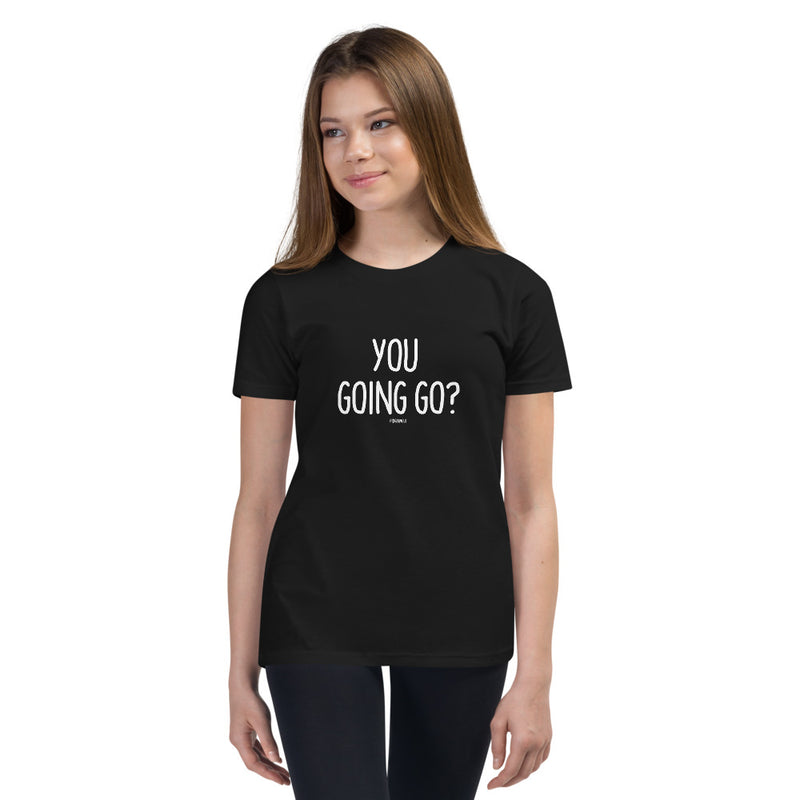 """YOU GOING GO?"" Youth Pidginmoji Dark Short Sleeve T-shirt"