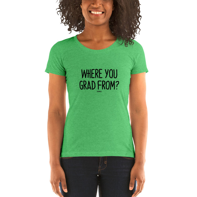 """WHERE YOU GARD FROM?"" Women's Pidginmoji Light Short Sleeve T-shirt"