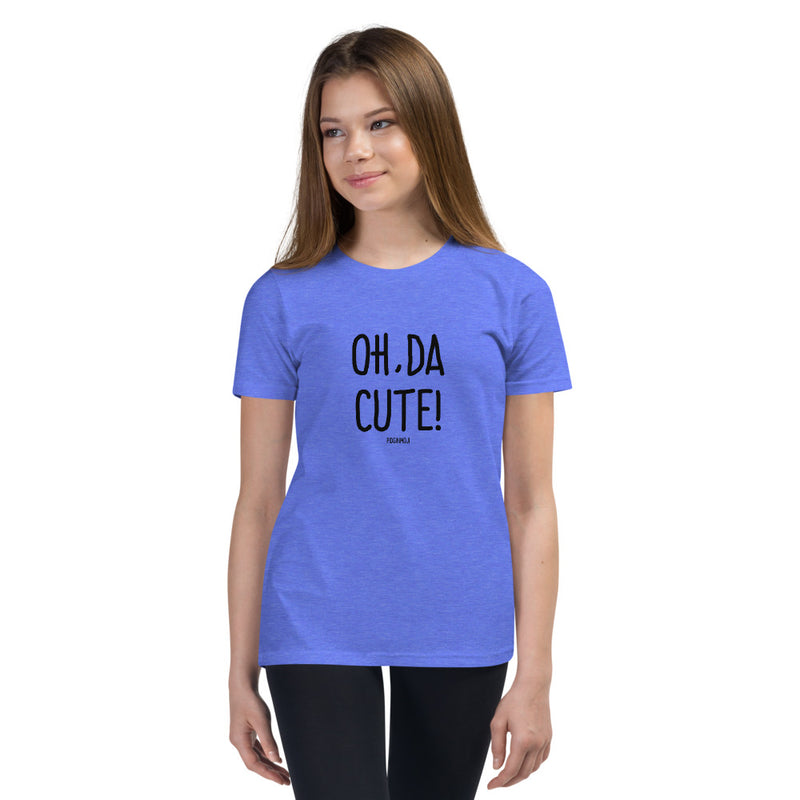 """OH, DA CUTE!"" Youth Pidginmoji Light Short Sleeve T-shirt"