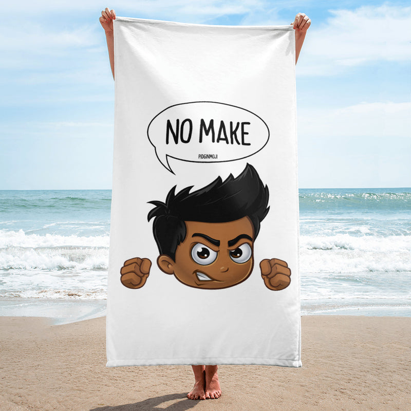"""NO MAKE"" Original PIDGINMOJI Characters Beach Towel"